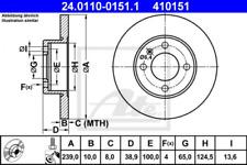 2x Bremsscheibe für Bremsanlage Vorderachse ATE 24.0110-0151.1