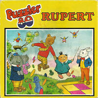 Puzzler 80 Rupert Bear Jigsaw - Hestair Puzzles 80 Large pieces 1973 code 01307
