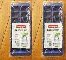 RUBBERMAID *DARK BLUE* EASY RELEASE ICE CUBE TRAY 2867B SET OF 2 NEW
