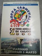 CARTOLINA VIAREGGIO 52 coppa CARNEVALE 2000 calcio football postcard Cup vintage