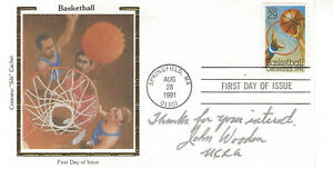 John Wooden (d) Signed Autographed First Day Cover Cachet UCLA PSA/DNA