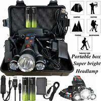 100000LM T6 LED Headlight Headlamp Head Torch 18650 Flashlight Torch Work Light