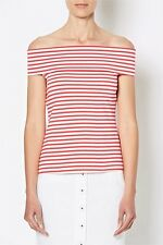 BNWT Witchery exposed shoulder stripes tops for women size L or 12 - 14