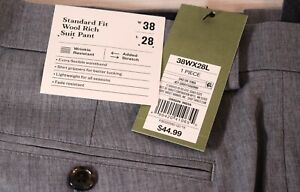 Goodfellow Dress Suit Pants Jet Gray Flat Front Size 38 x 28 New With Tags