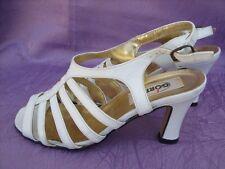 Görtz Sling Sandaletten weiß Leder Gr.37 Absatz 7 cm sehr gut erhalten