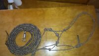 14' BLACK/BROWN/TAN LEAD ROPE AND MATCHING TRAINING HALTER FOR PARELLI METHOD