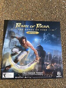 """Prince Of Persia Sands Of Time Remake GameStop Exclusive Promo Poster 24X24"""" PS4"""