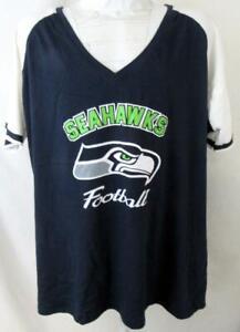"""Seattle Seahawks Women Plus Size 3X or 4X """"SEAHAWKS FOOTBALL"""" T-shirt ASSE 154"""