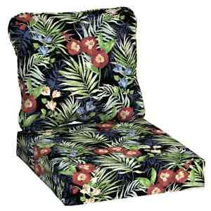 Hampton Bay Lounge Chair Cushion 22 in. x 24 in. UV/Fade Resistant Polyester