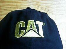 CAT HAT GOLD VIP BLACK STRAPBACK CATERPILLER BASEBALL GLITTER LOGO ADJUSTABLE