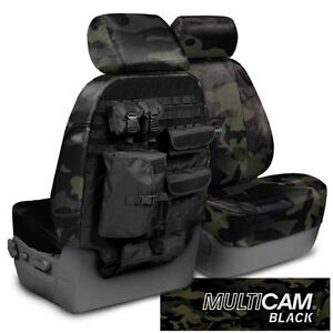 NEW MultiCam Classic Black Camouflage Seat Covers w/Molle System / 5102066-23