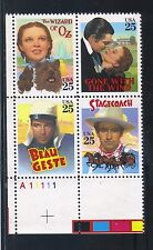 U.S.  #2448a 1990 25 Cent Classic Films  LL Plate Block MNH Superb SCV $5.50