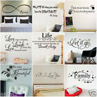 2017 DIY Removable Art Vinyl Quote Wall Sticker Decal Mural Home Kids Room Decor