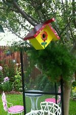 Hummingbird house #5 for home or garden custom painted Usa.
