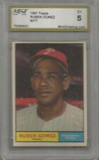 1961 Topps Baseball Ruben Gomez Card # 377 MGS Graded 5 Excellent