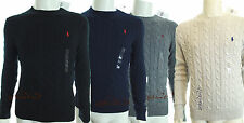 BNWT POLO RALPH LAUREN ROVING CABLE CREWNECK SWEATER JUMPER LONG SLEEVE RRP £110