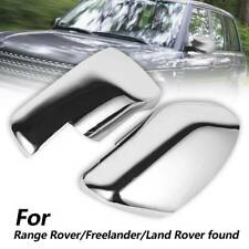 Chrome Wing Mirror Cover (L+R) For Land Range Rover Sport Freelander Discovery