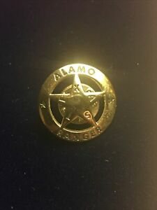 Beautiful New Alamo Texas Rangers Pin Silver Star. Unlike No Other. Rare.