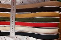 Textured TWILL Ribbon 3, 4.5 & 5 Metre Lengths 18mm Wide 7 Colour Choice LrgRD10