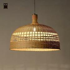 57cm Rattan Chandelier Light Fixture Chinese Hand Bamboo Ceiling Pendant Lamp