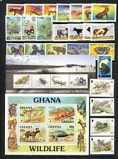 Fauna mnh vf stamp collection with pandas,bats,owls,manatee items to 20-,2 pages