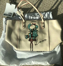 Love Moschino Beige Large Tote Bag New
