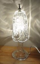 """CLEAR GLASS LAMP w/GLASS SHADE 17"""" H Portable Table Lamp Light"""