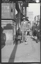 '27 Glass Cement Vendor Orchard @ Grand St Manhattan NYC Old Photo Negative U214