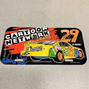 Vintage 1996 Cartoon Network Racing Flintstones #29 Steve Grissom Vanity Plate