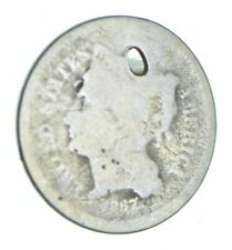 1867 Nickel Three-Cent Piece - Holed Coin Collection *799