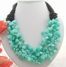 """20"""" Amazonite Onyx Necklace"""