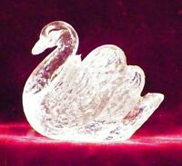 Vintage Swan Open Salt Cellar Dip Clear Pressed Glass Figural Clear As Is