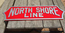 North Shore Line Sign Plaque Replica - ACTUAL SIZE