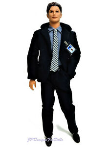 1998Ken doll as Special Agent Fox Mulder from The X-Files New with Stand