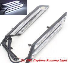 New 2 Pcs Universal HID White High Power Blade Shape LED Daytime Running Light