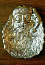 Santa Claus Dish Pewter Candy Cookie Plate Christmas Vintage Holiday Decor