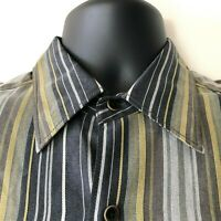 Tommy Bahama Striped Long Sleeve Shirt Button Front Men's Small S New