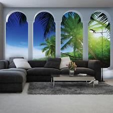 Poster papier peint papier peint la fresque papier peint eau Lac Nature palmiers vue 2356 p8