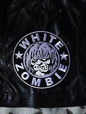 WHITE Zombie Ragazze nero in finta pelle dragula RACING JACKET MOTO BIKER