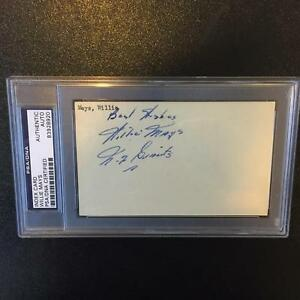 1951 Willie Mays Rookie Signed Autographed Index Card NY Giants PSA DNA COA