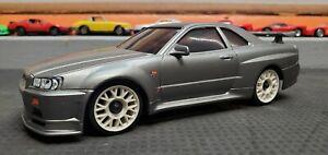 Kyosho Mini-Z Auto Scale Body NISSAN SKYLINE R34 GT-R Silver  -RARE