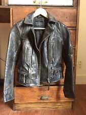 All Saints Leather Jacket UK 8 US 4