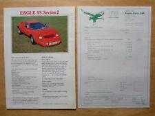 Eagle SS serie 2 & ECONOMIA KIT CAR ORIG 1983 UK Mkt opuscolo di vendita + modulo d'ordine