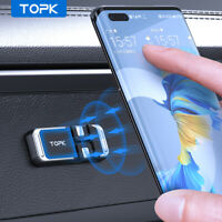 Topk Magnetic Car Phone Holder Cable Organizer Metal Plate Mount for GPS Phone