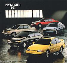 1991 HYUNDAI EXCEL / SONATA / SCOUPE Brochure/Catalog: GS,GLS,GL,
