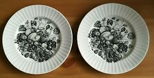 ALFRED MEAKIN IRONSTONE - OLD ORCHARD BLACK & WHITE - 2 x SIDE PLATES (16cm)
