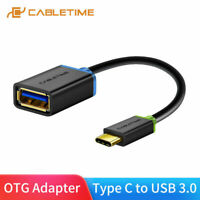 Cabletime USB C OTG Cable Type C 3.1 to USB 3.0 Adapter Fast Charging for Camera