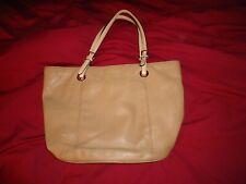 """Michael Kors Beige Tan Tote Purse Handbag 16.5 x 11"""" Tall"""