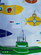 NEW POTTERY BARN BABY YELLOW SUBMARINE FITTED CRIB SHEET