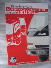 Isuzu Serie N (NKR 69, NPR 65+69, NQR 70) Prospekt / Brochure / Depliant, D